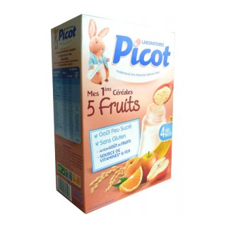 Picot Cereale 5 Fruits 200G Dés 4 Mois