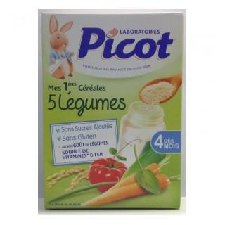 Picot Céréale 5 Légumes 200G Dés 4 Mois