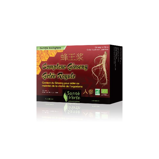 SANTE VERTE Ginseng/Gelée royale bte de 10 amp