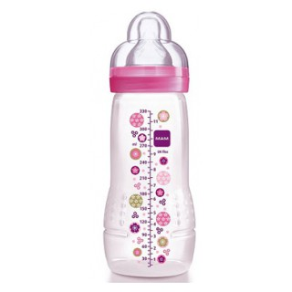 Mam Babybottle age2 330ml pink circle