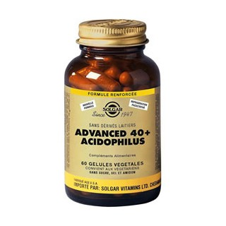 Solgar Advanced 40 Plus Acidophilus 60 Gélules Végétales