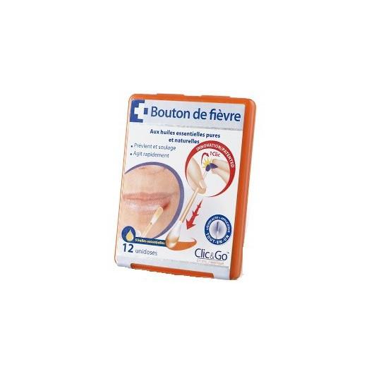 Clic & Go Bouton de fièvre boite de 12 bâtonnets unidoses