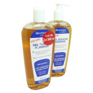 Bconcept gel douche surgras lot de  2x500ml
