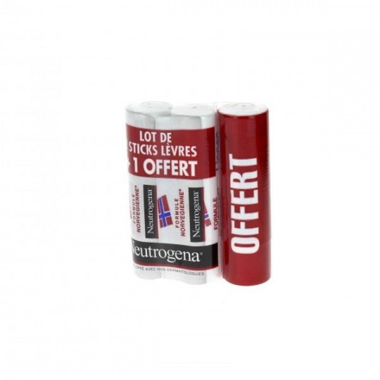 Neutrogena Lip Balm package + 1 free