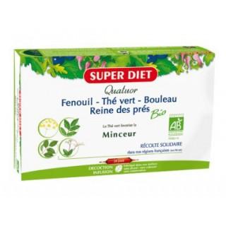 Quatuor Minceur Bio 20 Ampoules Super diet