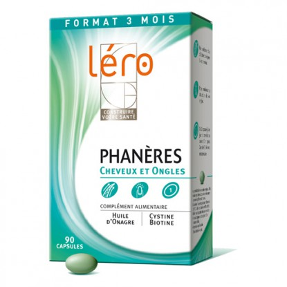Lero Phaneres 90 Caps Cheveux et ongles - PurePara