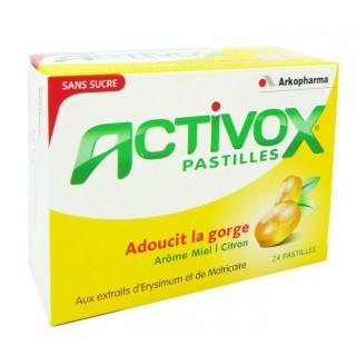 Activox Pastilles Arôme Miel/Citron 24 pastilles