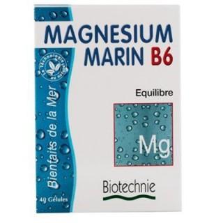 Magnesium Marin B6 Biotechnie 40 gélules