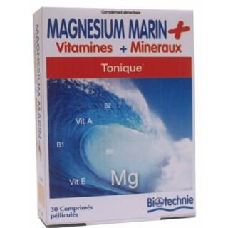 Magnesium Marin + Mineraux Biotechnie 30 comprimés