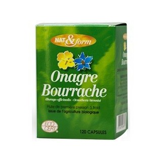 Nat et Form Onagre Bourrache 120 Gélules