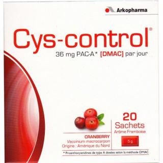Cys control framboise 20 sachets