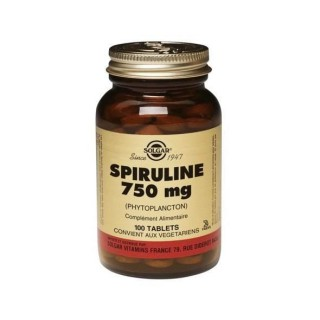 Solgar Spiruline 750 mg 100 Comprimés