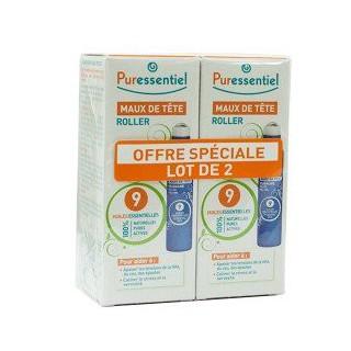 Puressentiel Maux de Tête Roller 5 ml LOT 2