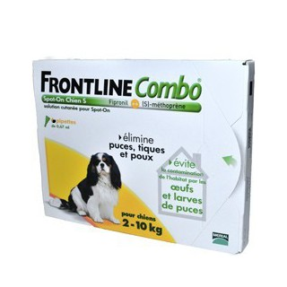 Frontline Combo dog 2-10kg S 4 Pipettes