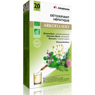 Arkofluide Bio Détoxifiant Hépatique 20 ampoules