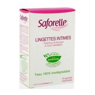 Saforelle lingettes intimes 10 sachets individuels