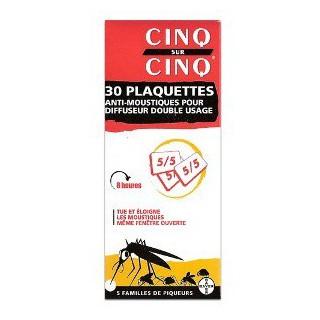 CINQ SUR CINQ Diffuseur Anti-moustique RECHARGE PLAQUETTE