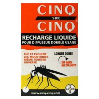 CINQ SUR CINQ Diffuseur Anti-moustique recharge liquide