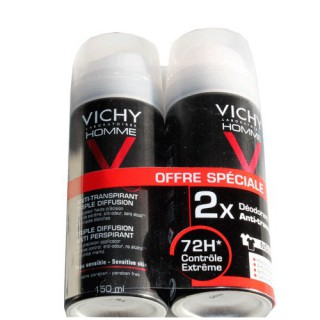 Vichy men Anti-perspiring deodorant 72h 2x150ml