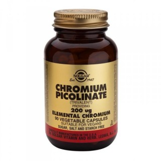 Solgar Chromium Picolinate 200 µg 90 comprimés