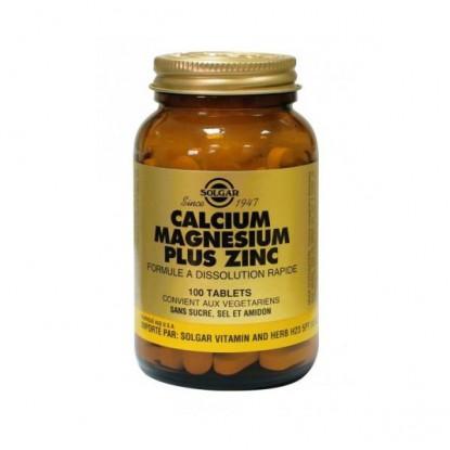 Solgar Calcium Magnésium plus Zinc 100 Comprimés
