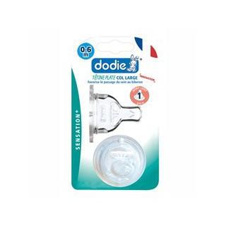 Dodie Tétine Plate Col Large Débit Lent 0/6mois lot de 2