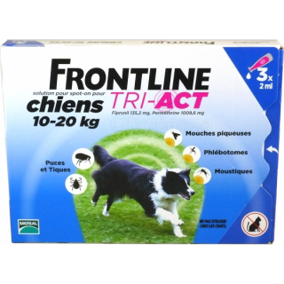 Frontline TRI-ACT Dog 10-20 kg 3 pipettes