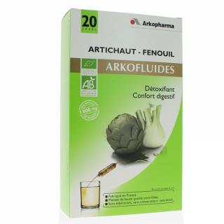 Arkopharma Ampoule Artichaut - Fenouil 20 jours