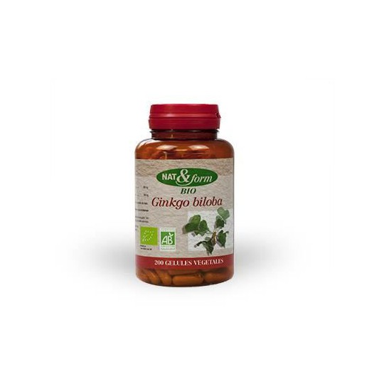 Nat & form Ginkgo biloba bio 200 gélules