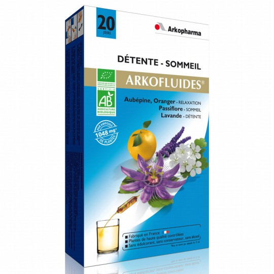 ARKOFLUIDE Organic Sleep & relaxation x20 ampoules