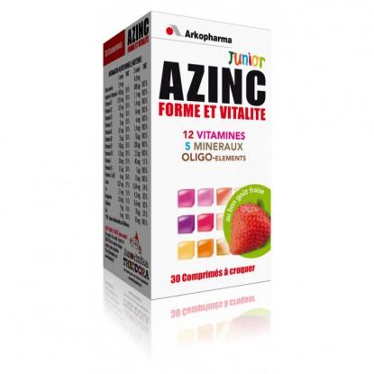 Azinc forme & vitalité Junior fraise 30 Comprimés