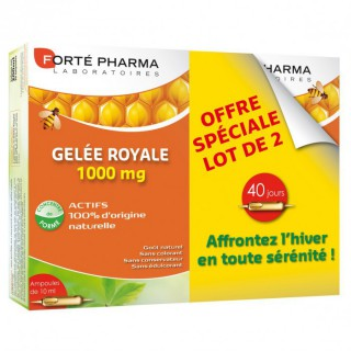 Forte Pharma Gelée royale 1000mg 2 X 20 ampoules