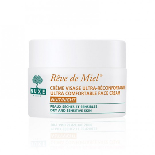 Nuxe Rêve de Miel Crème visage ultra-réconfortante nuit 50ml