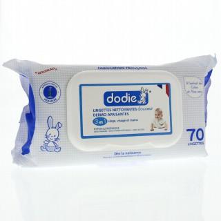 Dodie Lingettes Nettoyantes Douceur 3 en 1 x70