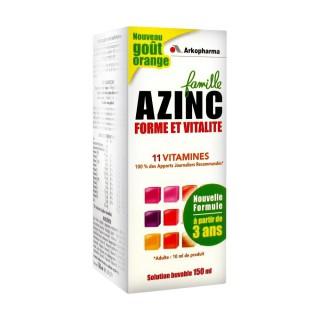 Azinc Forme vitalité solution buvable 150ml orange
