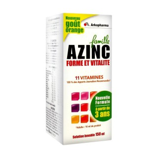 Azinc Forme vitalité solution buvable 150ml orange