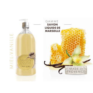 Les Petits Bains de Provence Savon Miel-Vanille 1L
