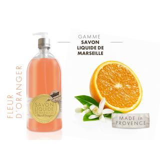 Les Petits Bains de Provence Savon Fleur d'oranger 1L