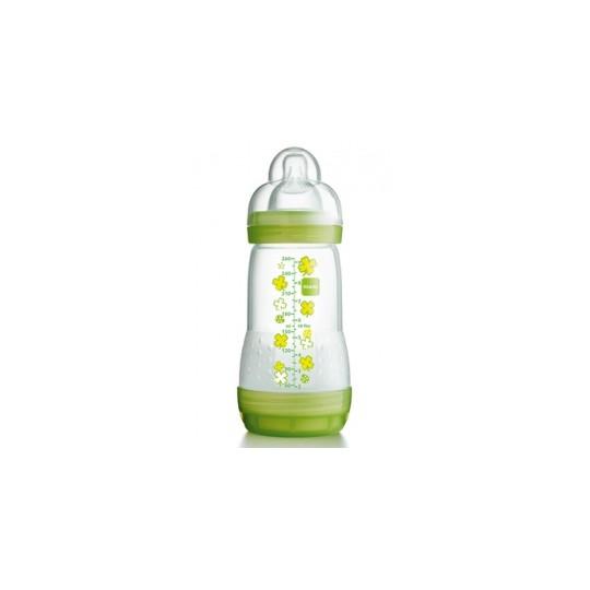 Mam Biberon Anticolique vert 260ml - tétine débit 2