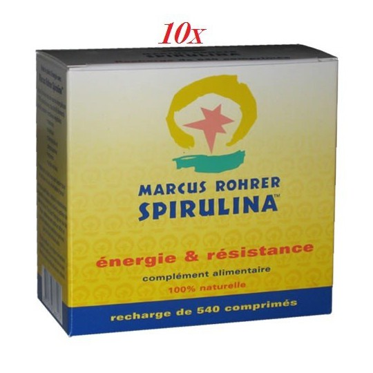 lot de 10 Spiruline Marcus Rohrer 540cp