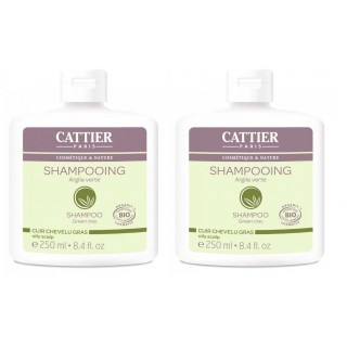 Cattier Shampooing Argile verte DUO 250ml