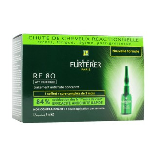 René Furterer RF 80 Concentrated Anti Hair-loss Box 12 Ampoules
