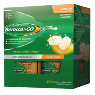 Berocca N Go Orange 28 comprimés