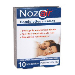 Nozoair Bandelette Nasale Petit Nez 10 Pièces