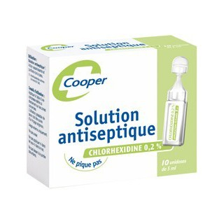 solution antiseptique chlorhexidine cooper 12 unidoses