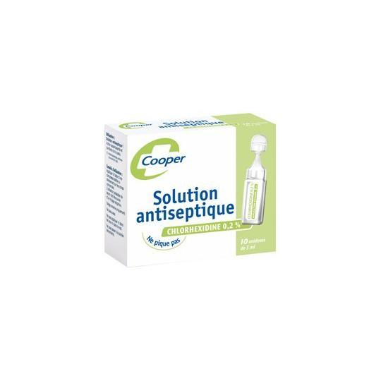 solution antiseptique chlorhexidine cooper 12 unidoses