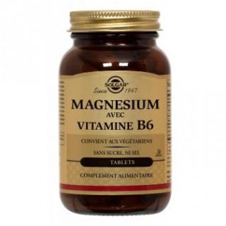 Solgar Magnésium+B6 Tablets