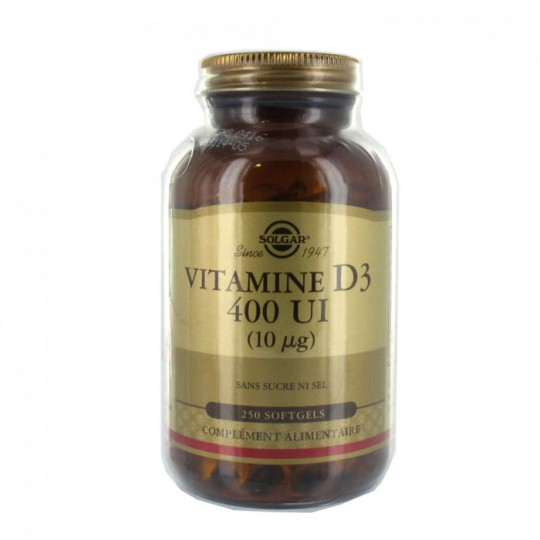 Solgar Vitamine D3 400 UI 250 Softgels