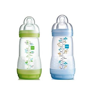 Mam 2 Anti-colic babybottles 260ml Blue
