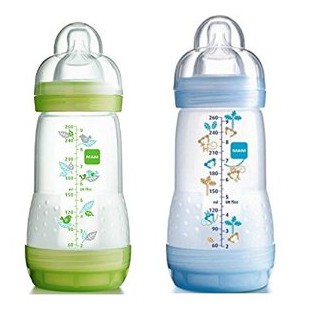 Mam 2 Anti-colic babybottles 260ml Blue